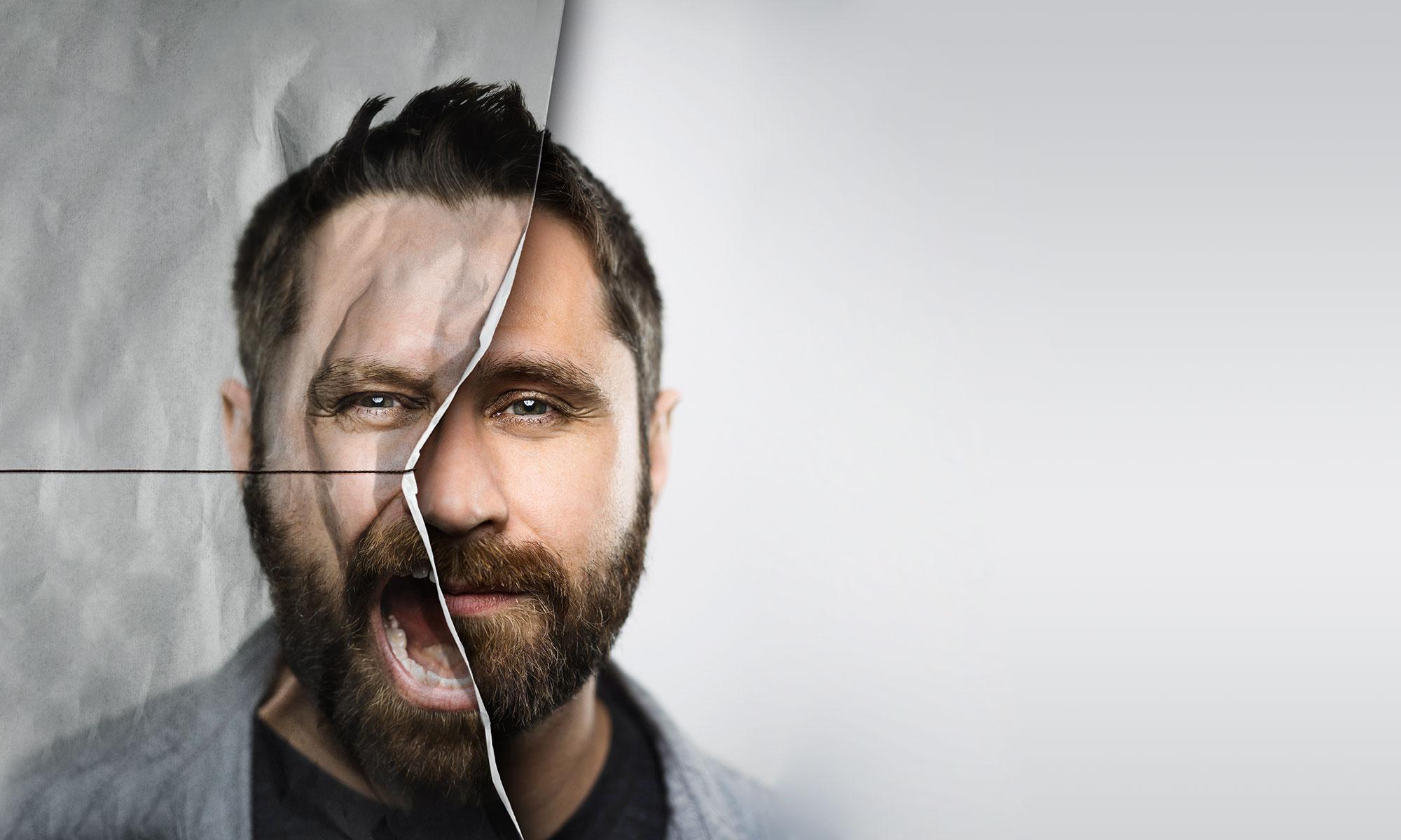 LeFee Werbeagentur entwickelt lautes Key Visual mit schreiendem Mann als Launchkampagne für Rx Produkt
