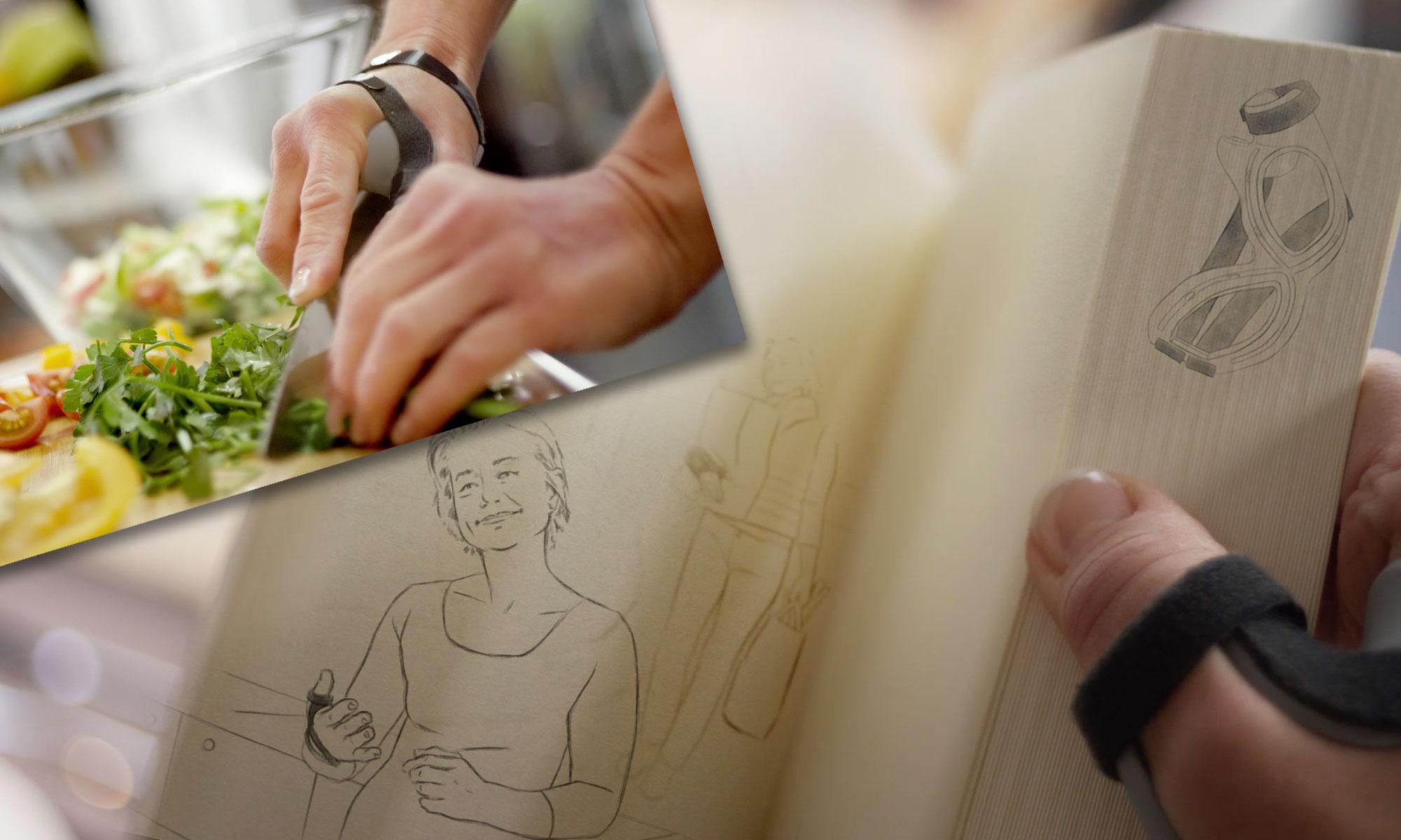 Zum Launch der Daumenorthese Actimove Rhizo Forte hat LeFee Healthcareagentur neben einem Salesfolder auch einen Film entwickelt, der durch einen Mix aus Illustrationen und Realszenen überzeugt.