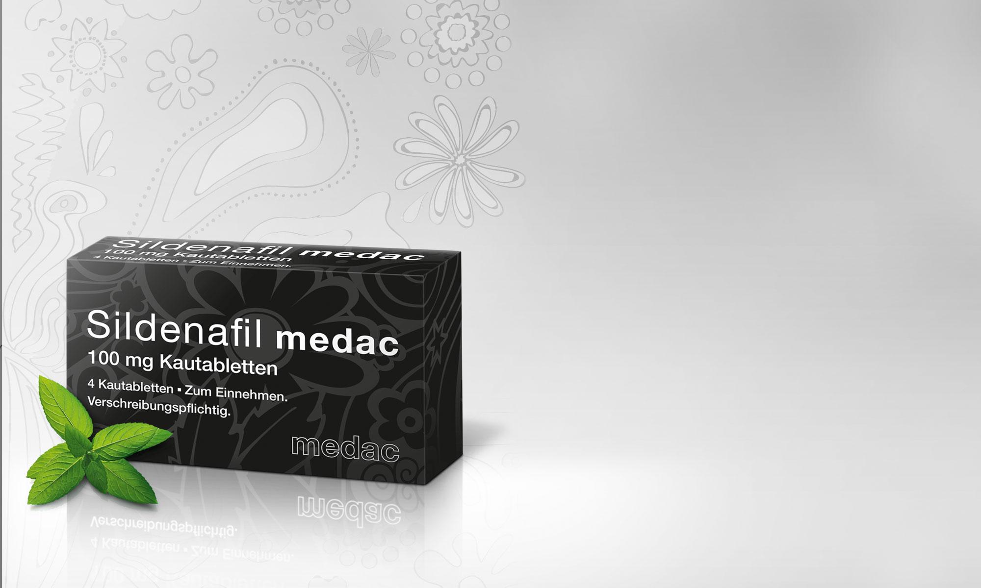 Launchkampagne und Packaging für sildenafil medac