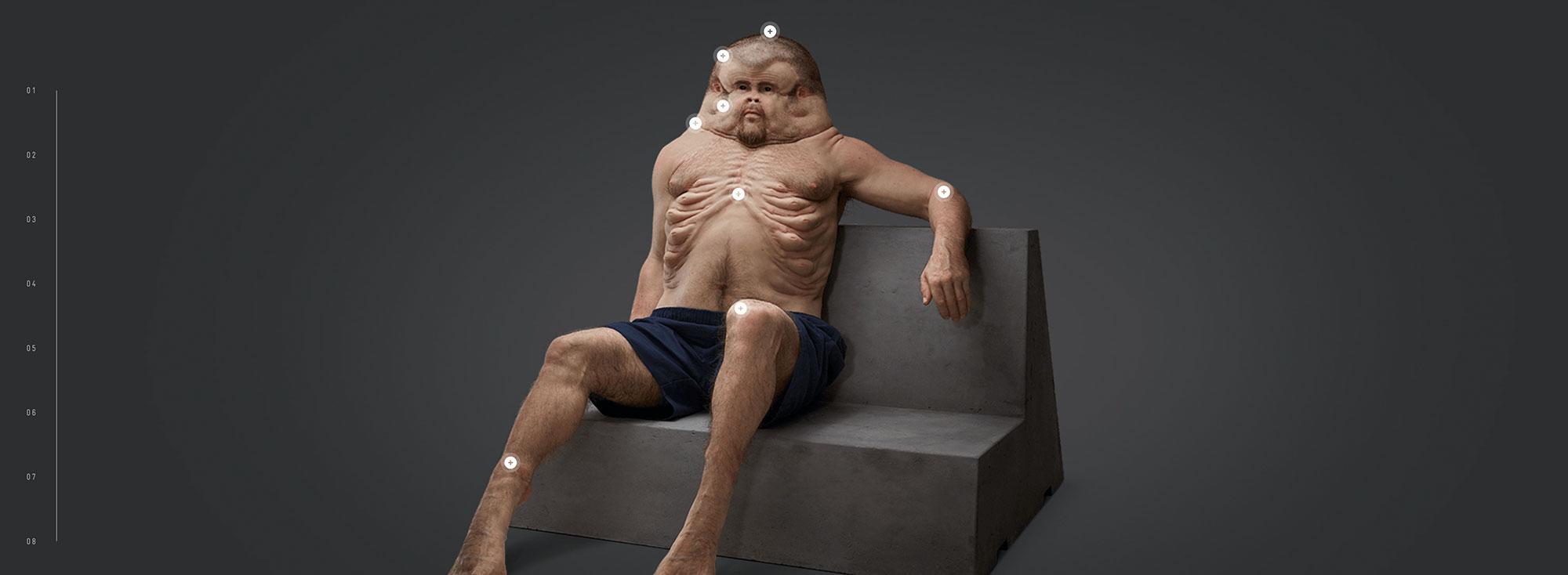 Aufmerksamkeitsstarke Kampagne, die dank der aufregenden, anatomischen Darstellung schockierend gut ist.